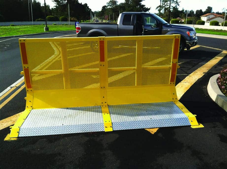 Carmen barrier installed outside