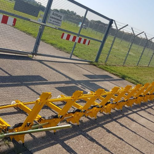 MVB 2 vehicle barrier in front of a gate in the airport