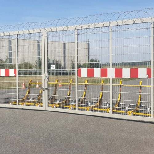 MVB 2 securing an entrance gate in the airport