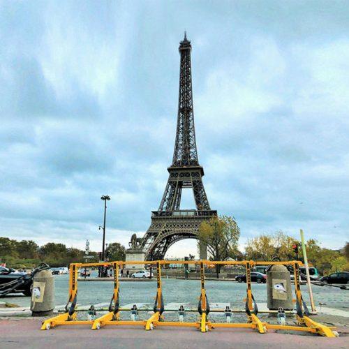 Vehicle barrier used to secure the Eiffel Tower
