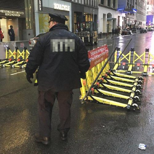 The barriers at work on New York's roads