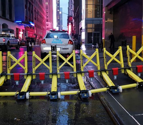 These barriers used by police to secure municipal events and festival